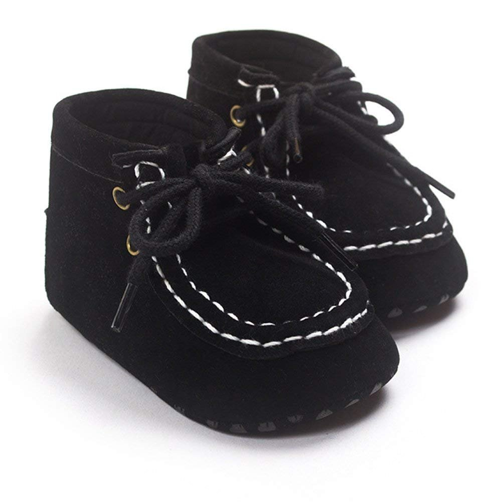 WAZZIT Baby Boys Faux Suede Lace Up Boots Prewalker Shoes Toddler Sneakers fot 0-18 Months