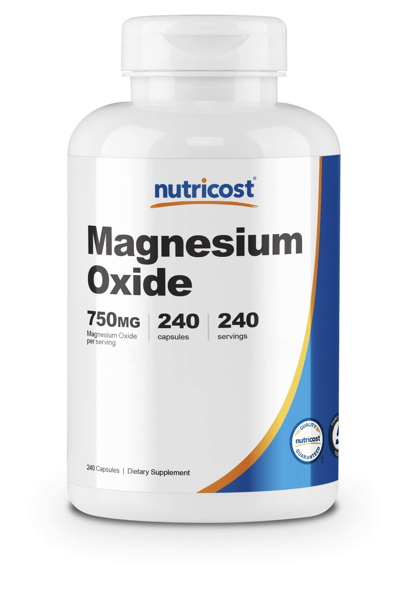 Nutricost Magnesium Oxide 750mg, 240 Capsules - 420mg of Magnesium, Non-GMO, Gluten Free