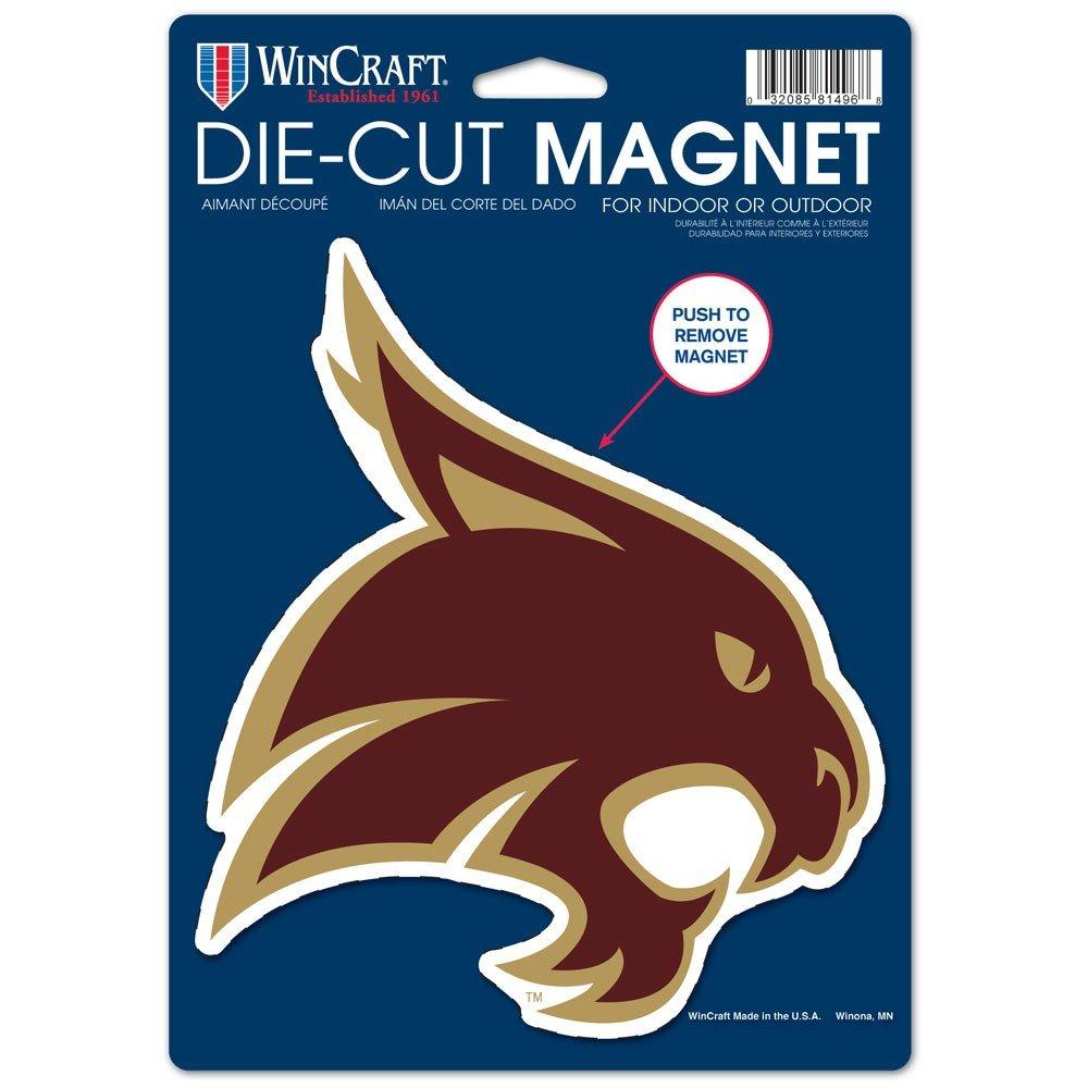 NCAA Texas State University Die Cut Logo Magnet, 6.25'' x 9''