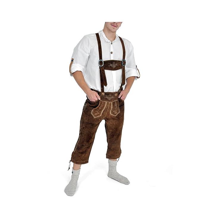 Disfraz de traje bávaro de hombre, lederhose - traje ...
