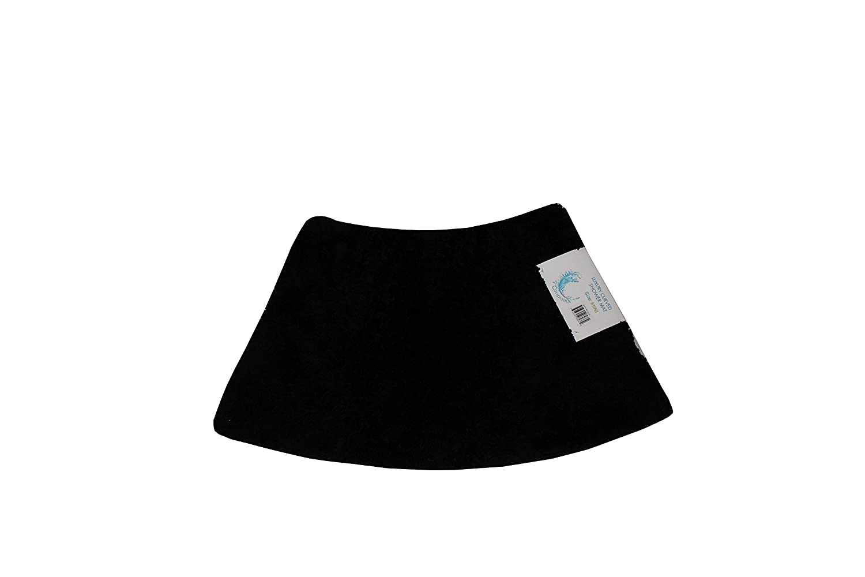 Cazsplash Luxury Quadrant Mini Curved Shower Mat, Microfibre, Black, 70 x 40 x 2.5 cm 706502080372
