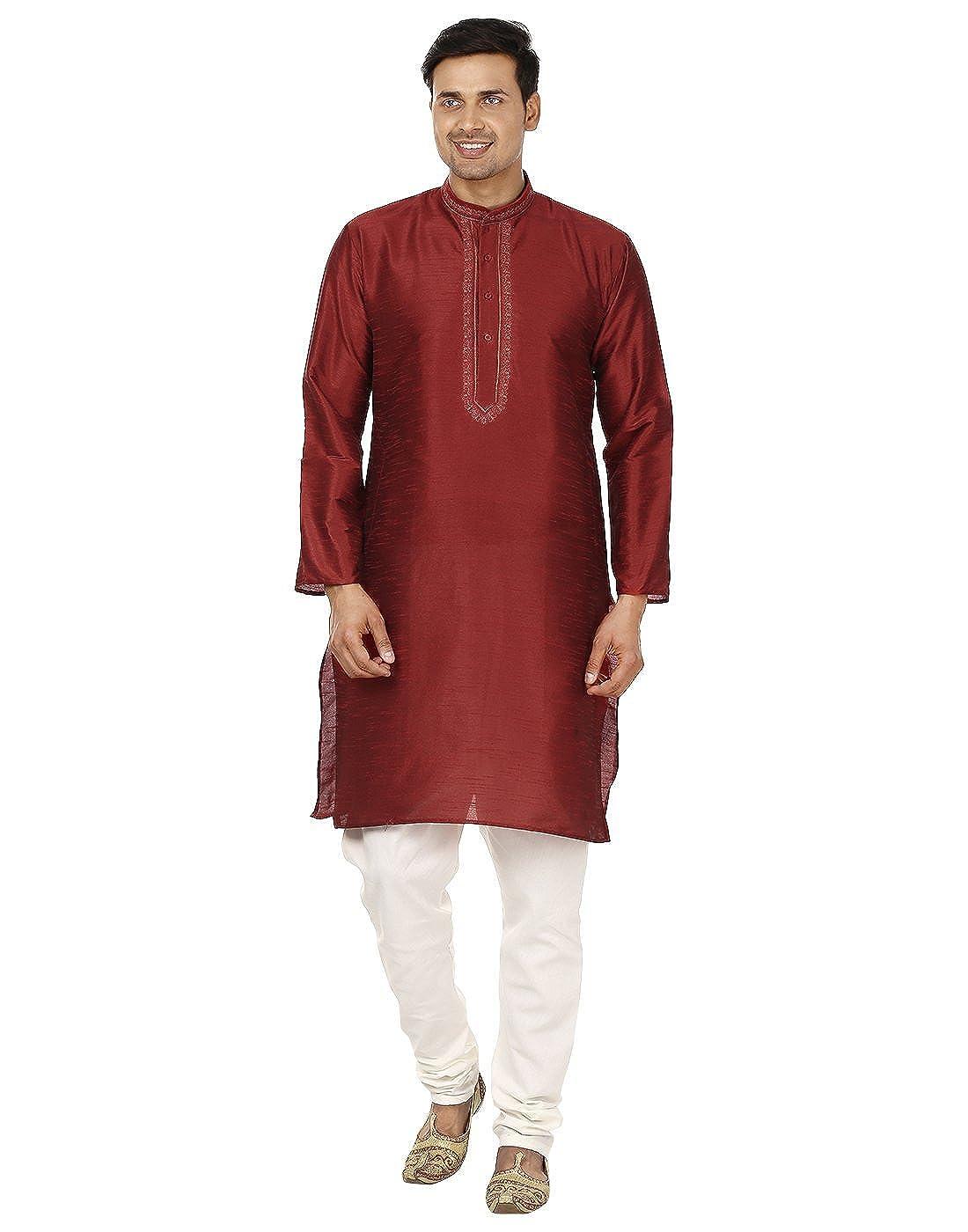 Bollywood Designer Mens Kurta Pajama Set Ethnic Indian Party Wear For Men