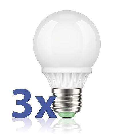 Parlat - Juego de 3 bombillas led (50 ledes SMD de alta potencia, luz