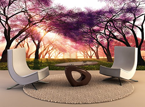 Wallpaper Mural Cherry Blossoms Japanese Garden Wall Art Decor