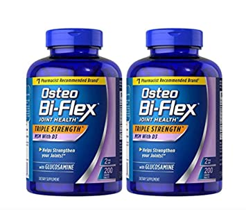 (pack of 2) Osteo Bi-Flex Glucosamine with MSM - 200 Tablets (Total 400 Tablets)
