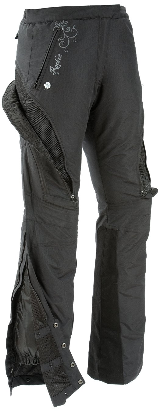 Black, Small Joe Rocket Alter Ego Womens Motorcycle Riding Pants