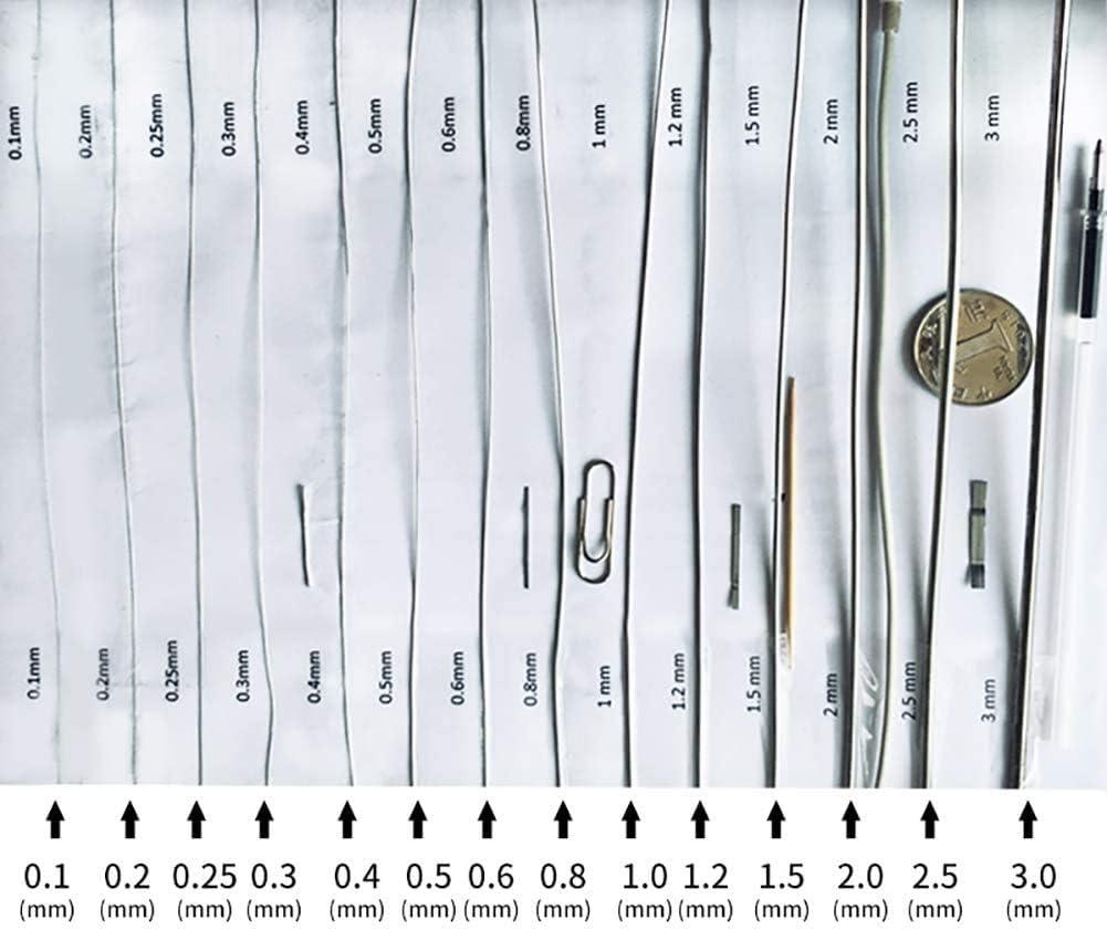 Longueur 100m,Diameter:0.05mm Wzwwjs 304 en Acier Inoxydable Souple Fil Convient pour d/écor Mural