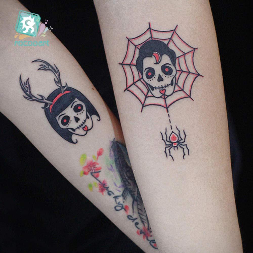 Ballet Flores blancas negras Tatuajes Etiqueta engomada Dibujo ...