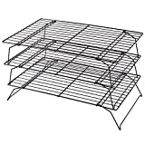 Kabalo Space Saving 3 Tier Stackable Baking Cooling Rack for Biscuits,Cakes & Pastries