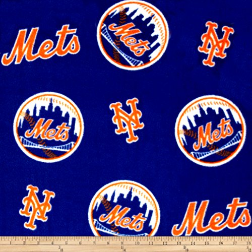 Fabric Traditions MLB New York Mets Fleece Fabric by The Yard, - Fabric York Mets New