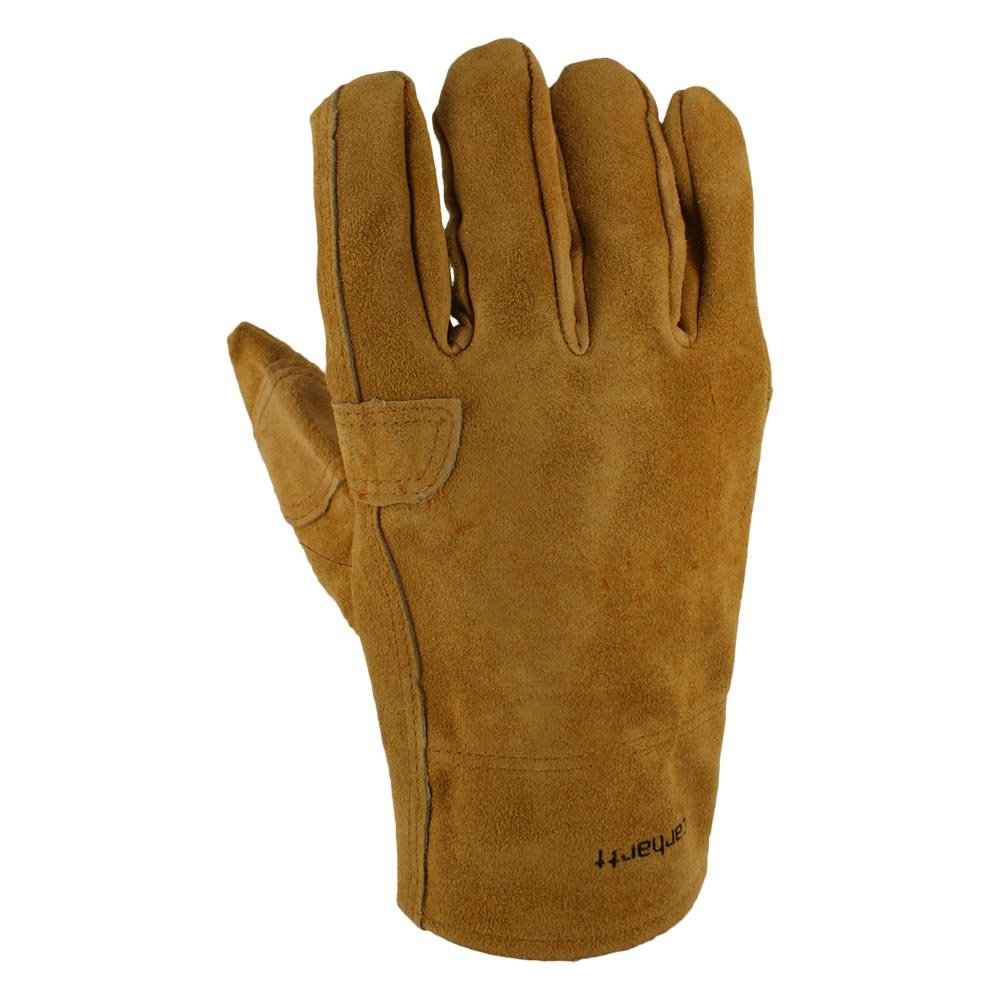 Carhartt Men's Leather Fencer Work Glove, Brown, Small by Carhartt (Image #1)