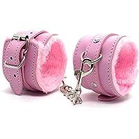 Wrist Soft Leather Handcuffs Gothic Fluffy Wrist Leather Handcuffs Bracelet Leg Cuffs Couples Role Play Soft Lining…