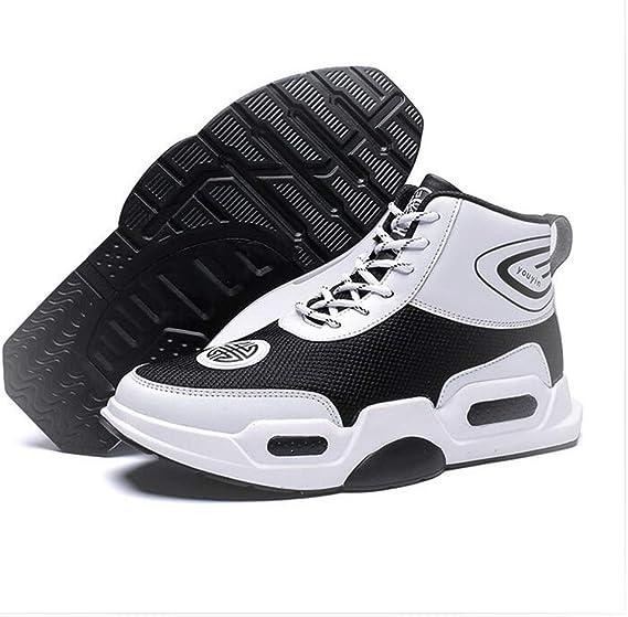 Hy Zapatos Casuales para Hombre, Zapatilla Plana de Microfibra con Muelle, Zapatillas de Piel cómodas, Zapatos para Estudiantes, Correr, Senderismo, Viajes: Amazon.es: Jardín