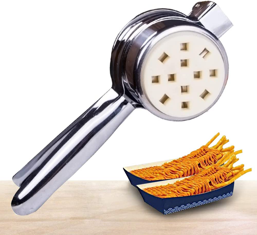 YJINGRUI Manual Long French Fries Squeezers Fried Potato Strips Squeezers 11.5Inch/30cm Long French Fries Cutter Extruder for Householde/Commercial