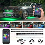 LEDGlow 6pc. Million Color SMD LED Car Underbody and Interior Lighting Kit - Bluetooth-Connected Smartphone App - 312 SMD LEDs - 16 Unique Fully Customizable Lighting Modes