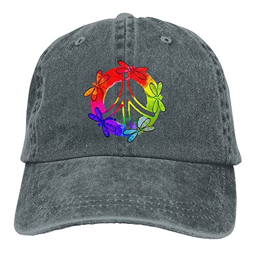 - NEW FACUP Dragonfly Peace Sign Unisex Washed Twill Cotton Baseball Cap Vintage Adjustable Hat