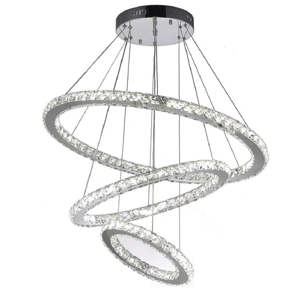 Warm White 3000K White Diamond LED Light Ceiling Lamp Chandelier Lighting Fixture 53 cm Wide 53 cm Deep 9 cm High
