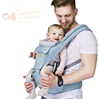 Baby - Carrier, 6-in-1 Baby Carrier with Waist Stool-, FRUITEAM Baby Carrier with...