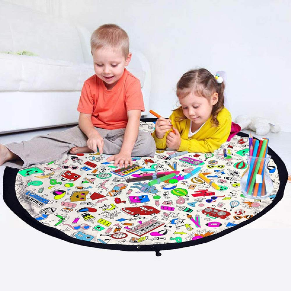 HEBE Kids Area Rugs for Bedroom Living Room 40x63 Large Learning Carpets City Life Play Mat with Non Slip Backing Machine Washable Kidstreet200