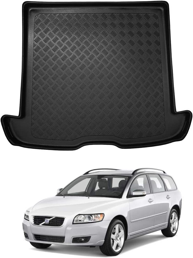 Nomad Auto Tailored Fit Durable Black Boot Liner Tray Mat Protector for Volvo V50 04-12