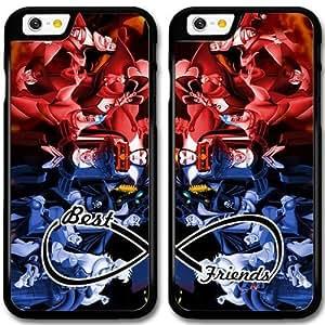 BFF Mejores Amigos Duro Snap-On protectora funda para iPhone 6 6S 4.7 Inch Negro [KHJKJLDFJ2261] CUSTOM los villanos de Disney tema iPhone 6 6S 4.7 Inch funda