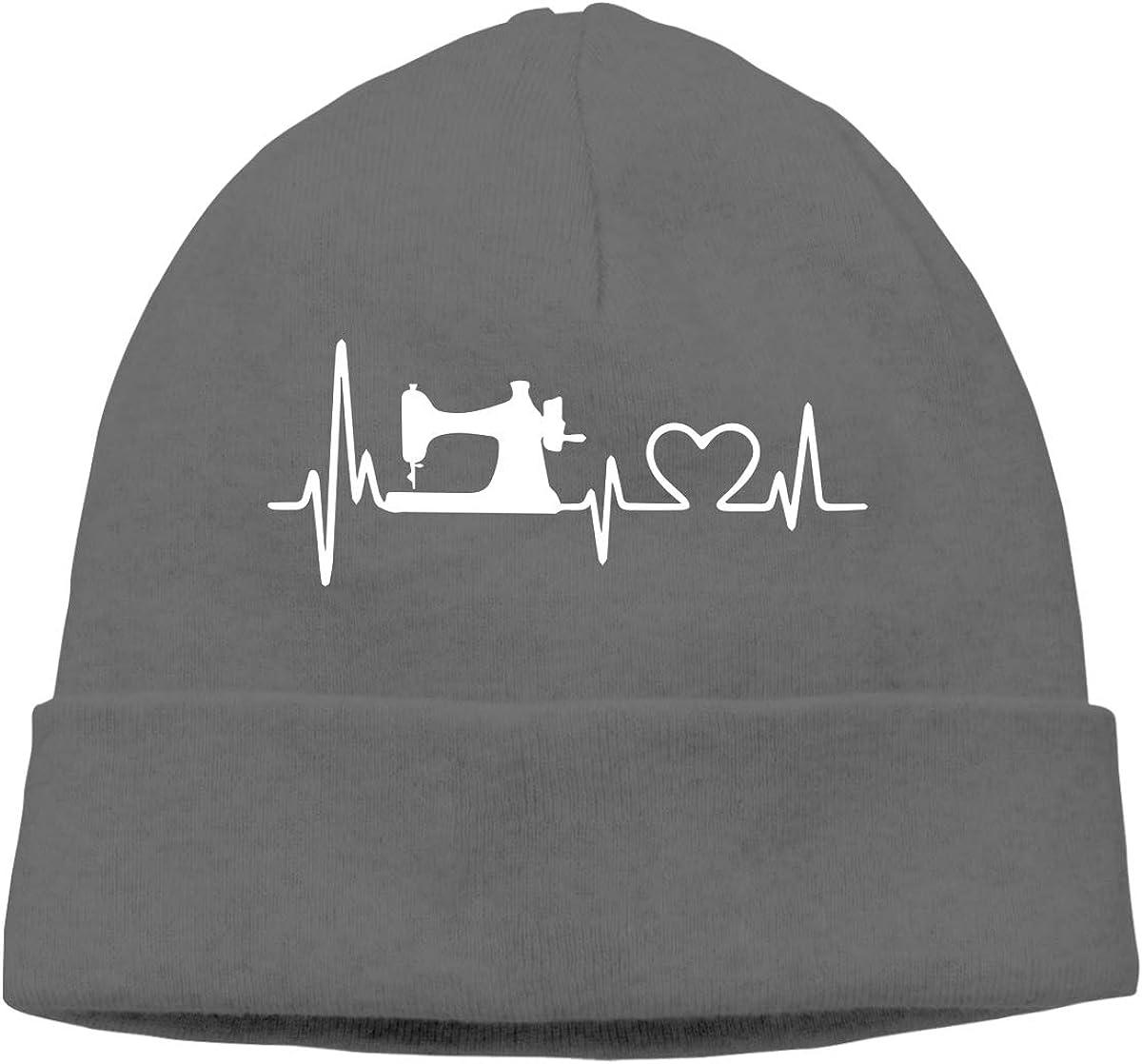 Mens/&Womens Sewing Heartbeat Soft Skull Beanie Cap Soft Hat