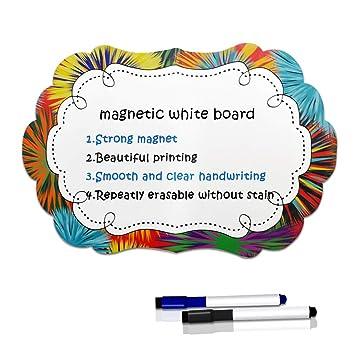 Sunnyac Pizarra blanca magnética de borrado en seco para ...