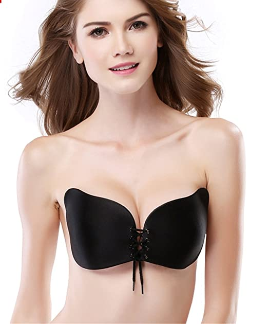 6605c9a971 Mishitina LALA Bra Strapless Self Adhesive Silicone Invisible Push-up Bras  for Women