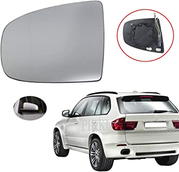 Left Side Heated Wing Mirror Glass Fits For BMW X5 X6 E70 E71 E72 2008-2014