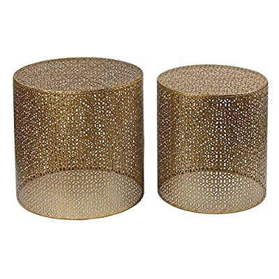 Privilege International Round Accent Tables - Set of 2
