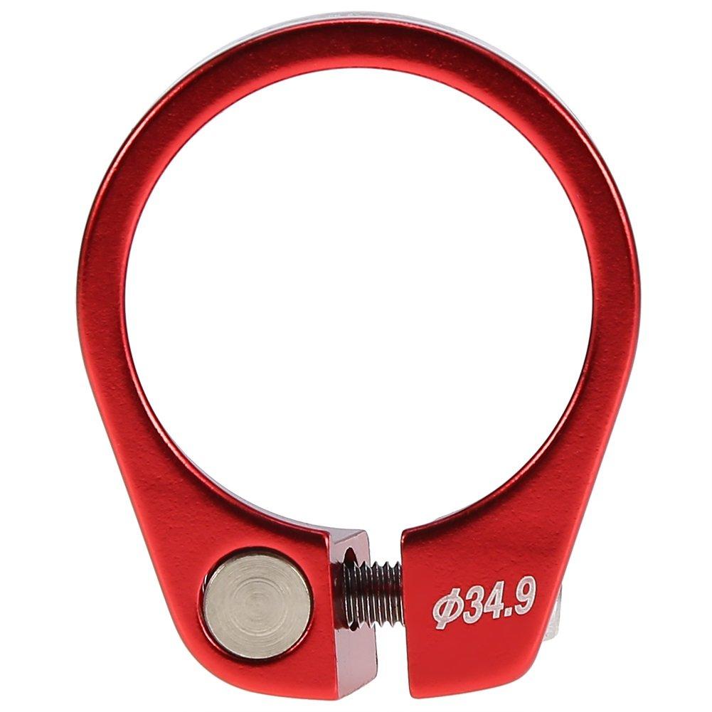 自転車クイックリリースシートポストクランプクランプアルミニウム合金フィットfor 30.4 / 30.8 / 31.6 MM B075FL2CH1 レッド レッド
