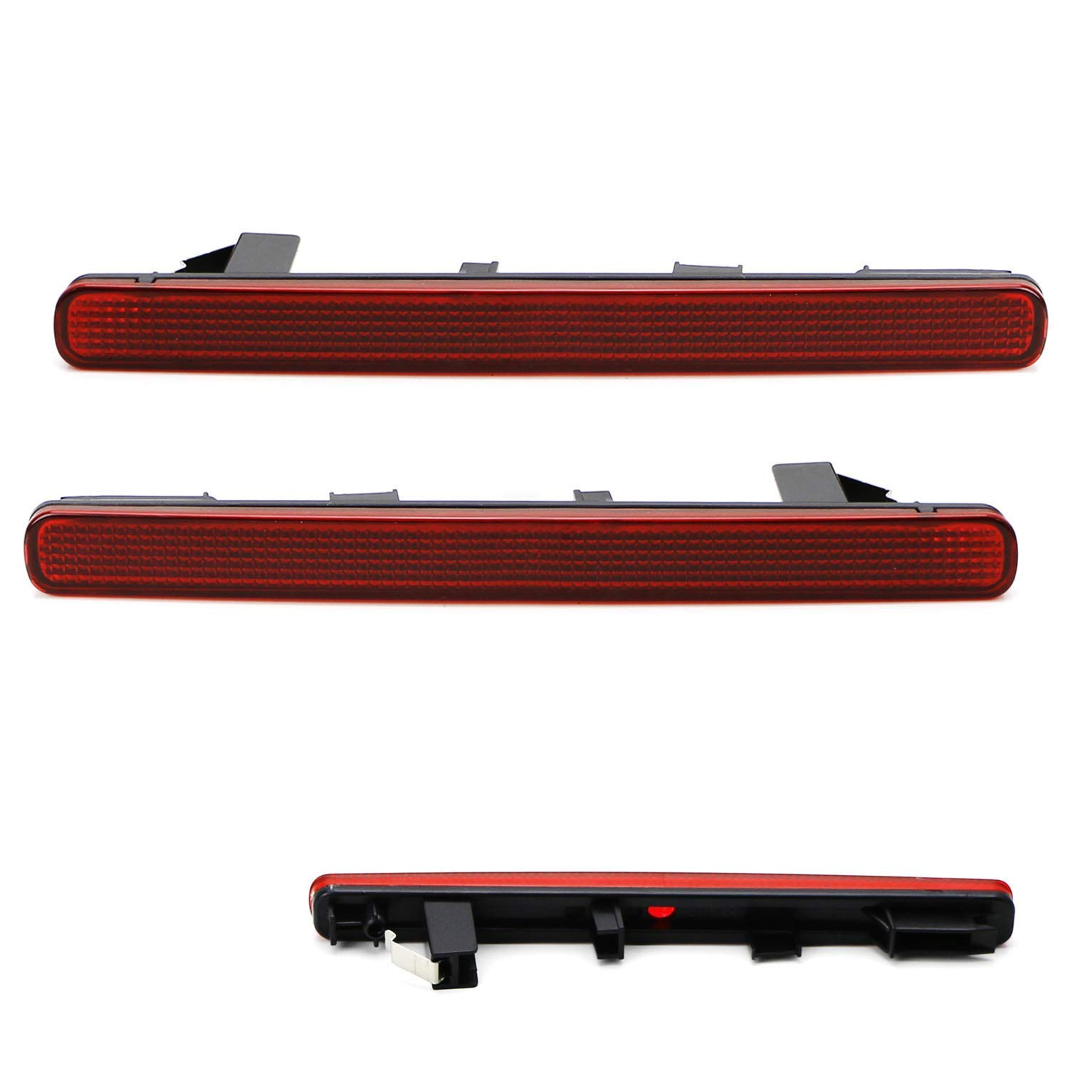 OE-Spec LH RH Assembly iJDMTOY Red Lens Rear Bumper Reflector Lenses For 2009-2014 Acura TSX Euro Accord