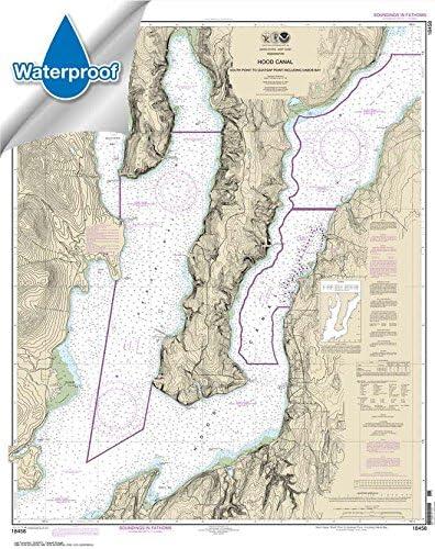 Hood Canal-South Point to Quatsap Point including Dabob Bay 41.2 x 32.6 NOAA Chart 18458 WATERPROOF