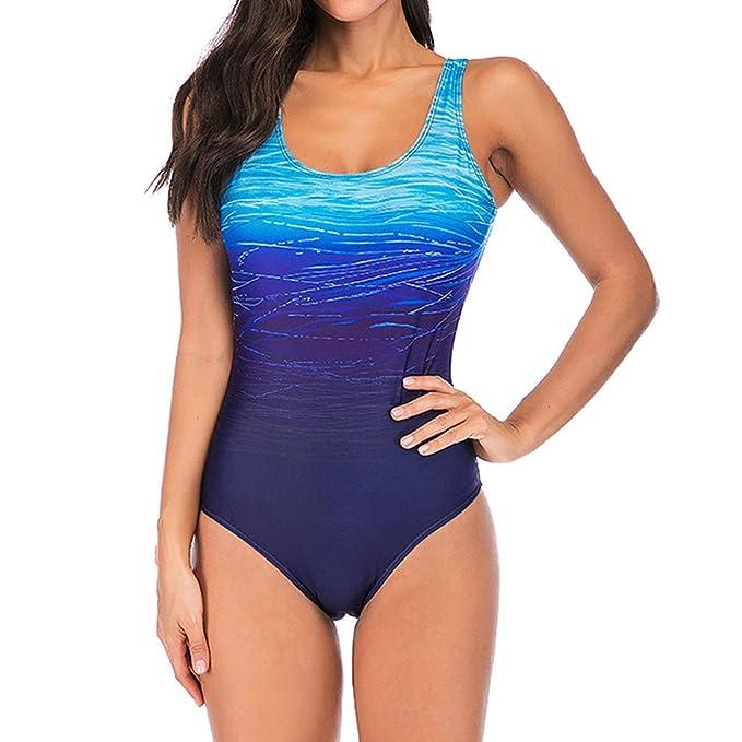 QinMM Bañador Trajes de baño para Mujer Talla Grande, Bikini Push up Playa de Verano Monokini