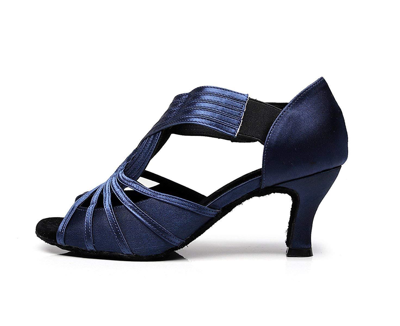 Yingsssq Damen Kristalle Sparking Satin Latin Salsa Salsa Salsa Tanzschuhe Tango Chacha Samba Modern Jazz Schuhe Sandalen High Heels Blau-Absatz 6cm-UK2.5   EU32   Our33 af3b0f