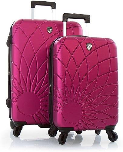 Heys Solar Spinners 2 Pc Set Lightweight Hard Side Luggage Set – 21 , 26 Fuchsia
