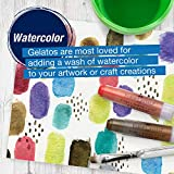 Faber-Castell Gelatos Colors Set, Metallics - Water Soluble Pigment Crayons - 15 Metallic Colors