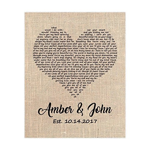 Wedding Song Gift, First Dance Lyrics, Personalized with Your Song (Dance Naturals Art)