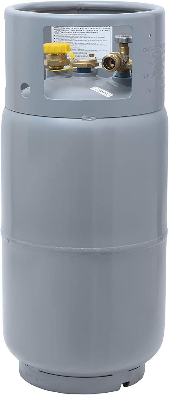 Flame King YSN335 33.5 Pound Steel Forklift Propane Tank Cylinder with Gauge TC and DOT Compliant
