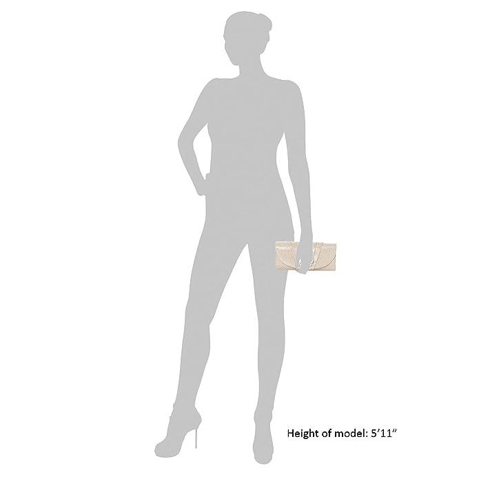 Roland Cartier - Cartera de mano mujer , color plateado, talla: Amazon.es: Zapatos y complementos