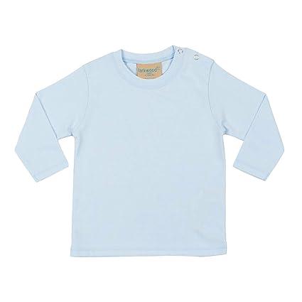 a5676a3f2 Larkwood- Camiseta de manga larga lisa para bebé unisex (0-6 meses ...
