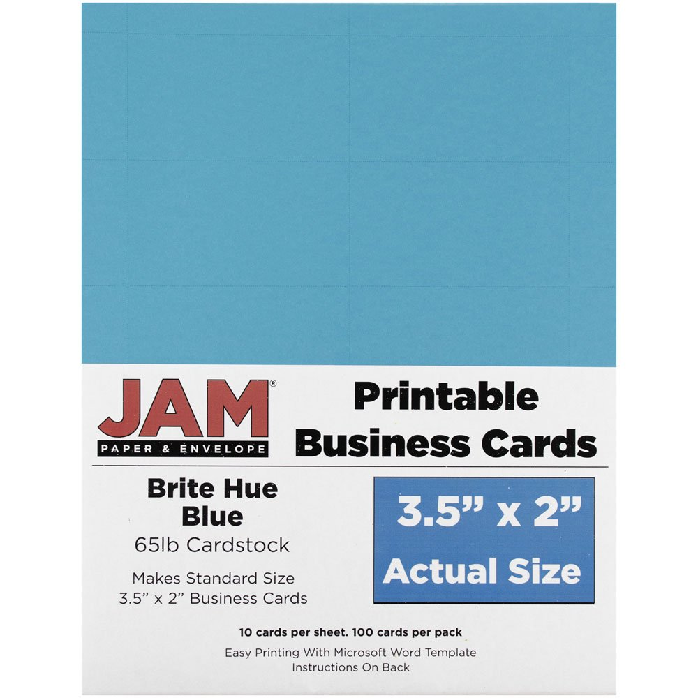 Amazon.com : JAM Paper Printable Business Cards - 3 1/2\