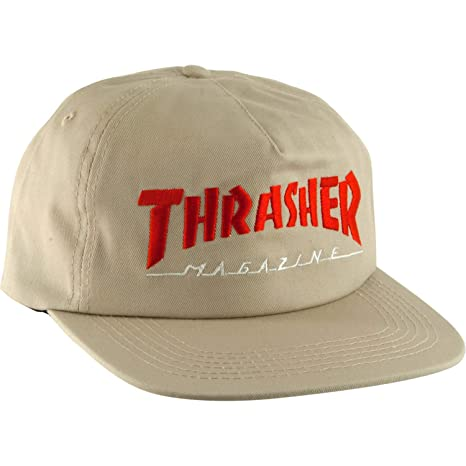 Image Unavailable. Image not available for. Color  Thrasher Magazine Two  Tone Mag Logo Tan Snapback Hat ... a2177a8a75e3
