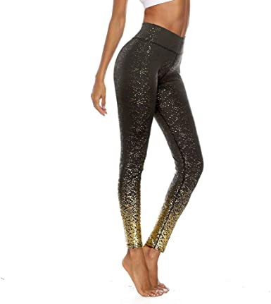 Printed Yoga Leggings Workout Fitness Running Yoga Pants iCJJL Womens Performance Activewear