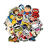 Homerity 100Pcs Stickers Skateboard Stickers Car Stickers Laptop Stickers Random Style Mix Fashion Graffiti Stickers Helmet Luggage Guitar Bike Suitcase Stickers (B)
