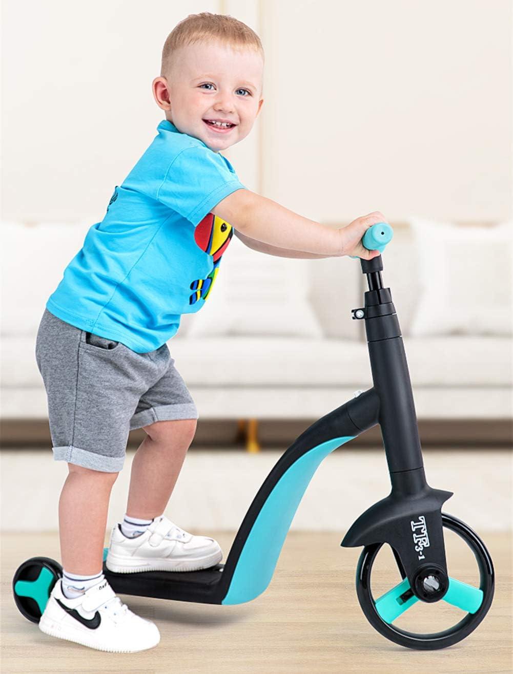 GOLDEN MANGO Vespa De Los Niños, 3-En-1 De Los Niños del Triciclo Convertible Cama del Balanceador Moto Scooter, 1-5 Años Bebé De Juguete