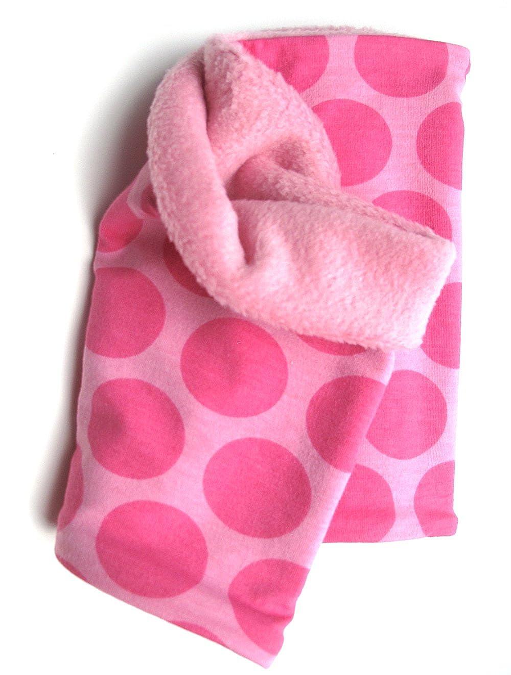 Woll Gallina cálida Pañuelo, avispas–En Color Rosa/Rosa con Puntos para niña, Interior de Forro Polar, 20141115