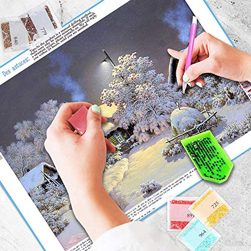 5D Diamond Painting Kits for Adults,Embroidery Paintings Rhinestone Pasted DIY Diamond Painting Cross Stitch