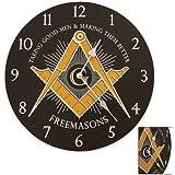 Freemason's Wall Clock Black by Sigma Impex