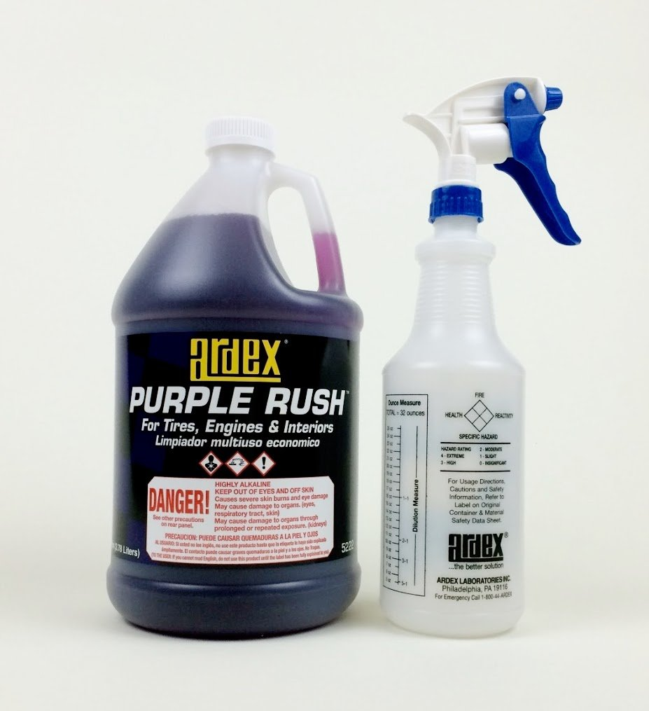 Ardex Engine Cleaner Purple Rush Concentrate - Heavy Duty Cleaner - Degreaser